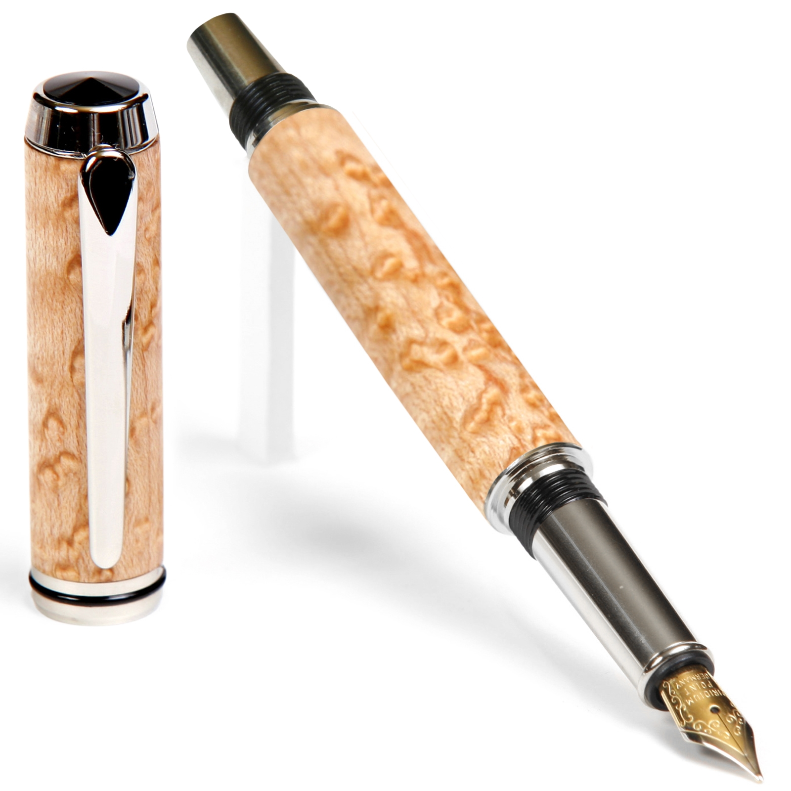 Baron Fountain Pen - Birds Eye Maple