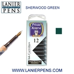 Private Reserve Sherwood Greeb 12 Pack Cartridge Fountain Pen Ink C04 - Lanier Pens