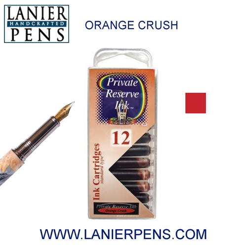 Private Reserve Orange Crush 12 Pack Cartridge Fountain Pen Ink C06 - Lanier Pens