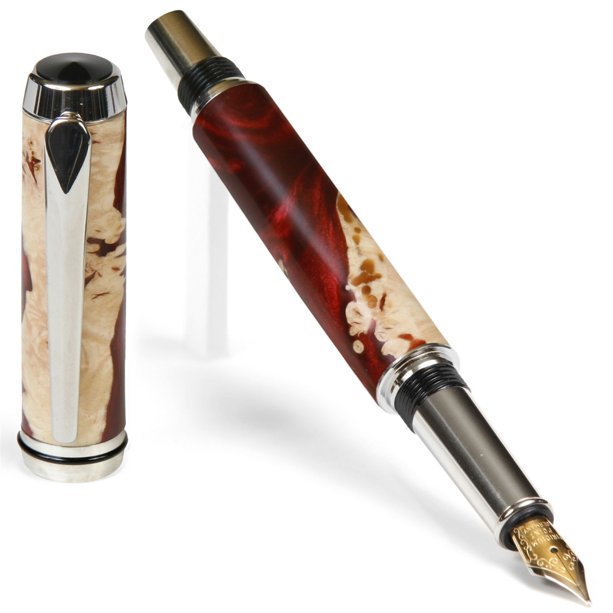 Baron Fountain Pen - Red Tide