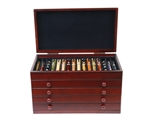 Mahogany Pen Chest - 76 Pens