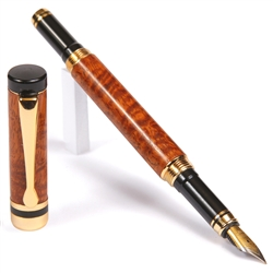 Classic Fountain Pen - Afzilia Snakeskin