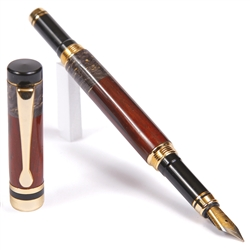 Classic Fountain Pen - Cocobolo with Black Box Elder