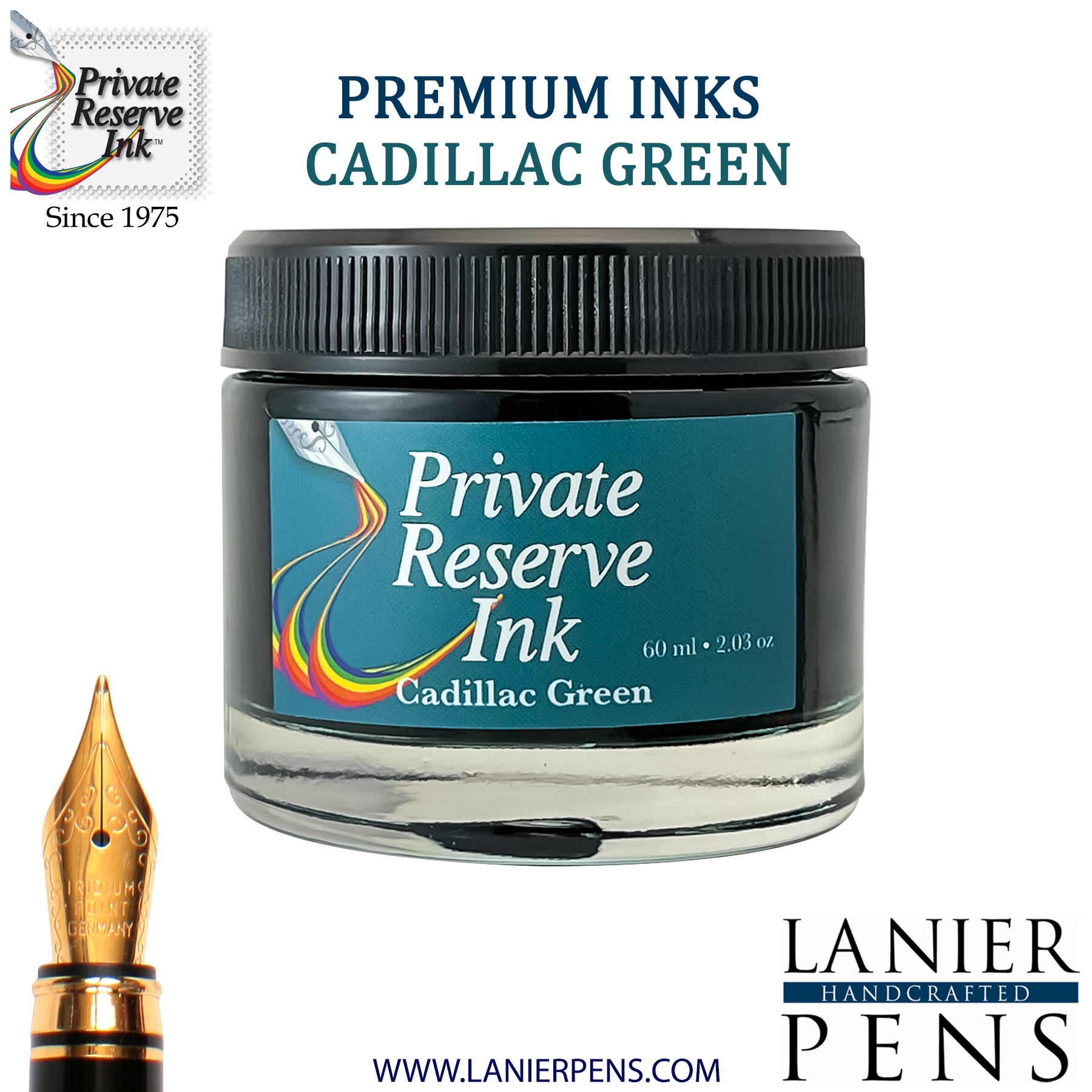 Private Reserve Cadillac Green Fountain Pen Ink Bottle 48-cg Lanier Pens