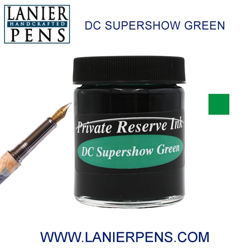 Private Reserve DC Supershow Green Fountain Pen Ink Bottle 34-dcg Lanier Pens