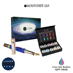 Monteverde MV12372 10 Piece Fountain Pen Ink Bottle Gift Set- Core Collection