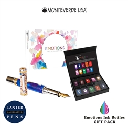 Monteverde MV12375 10 Piece Fountain Pen Ink Bottle Gift Set-Emotions Collection