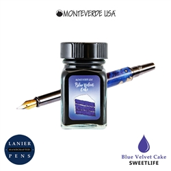 Monteverde G309BV 30 ml Sweet Life Fountain Pen Ink Bottle- Blue Velvet Cake