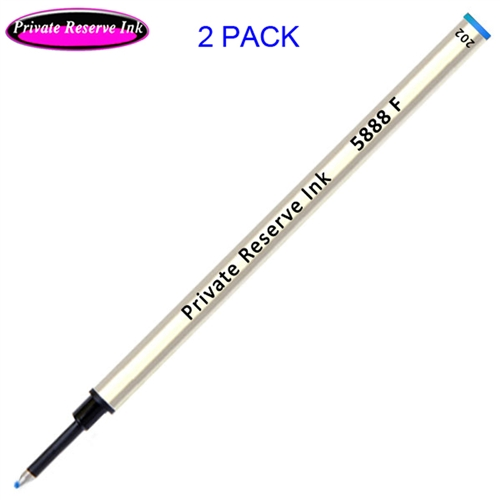 2 Pack - Private Reserve Ink Schmidt 5888 Rollerball Metal Refill - Blue Ink Fine