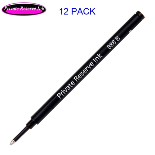 12 Pack - Private Reserve Ink Schmidt 888 Rollerball Refill Black Broad Tip