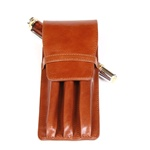 Leather Pen Holder – Tan Triple