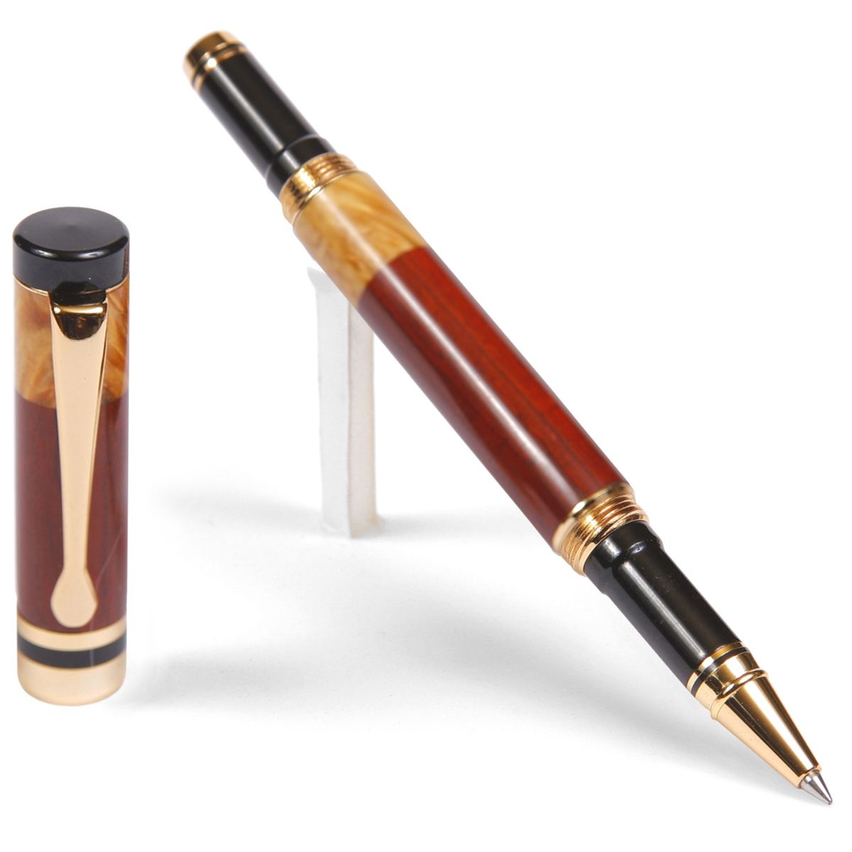 Classic Rollerball Pen - Cocobolo with Yellow Box Elder