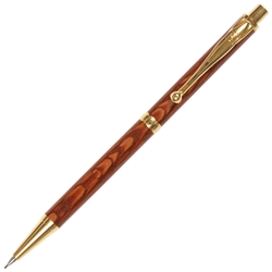 Slimline Pencil - Leopard Wood