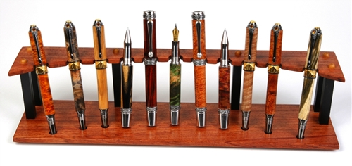 Wooden Pen Stand Designs : Pens bubinga and ebony upright pen stand lanierpens